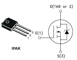 STU6NF10, N-channel 100 V, 0.22 ?, 6 A, IPAK low gate charge STripFET™ Power MOSFET